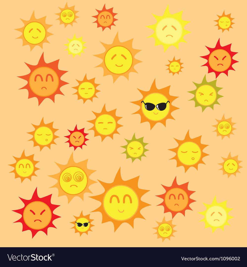 Sun background vector | Price: 1 Credit (USD $1)