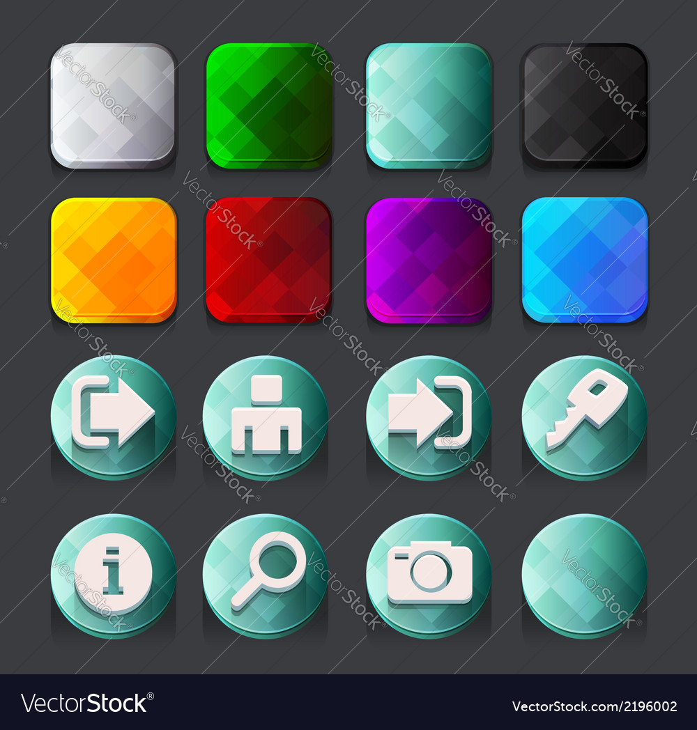 Turquoise web icons collection 1 vector | Price: 1 Credit (USD $1)