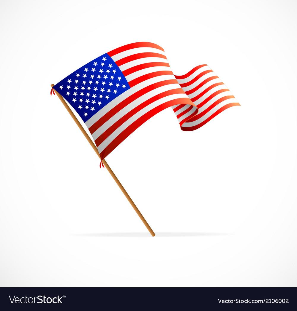 Waving american flag flag of usa vector | Price: 1 Credit (USD $1)