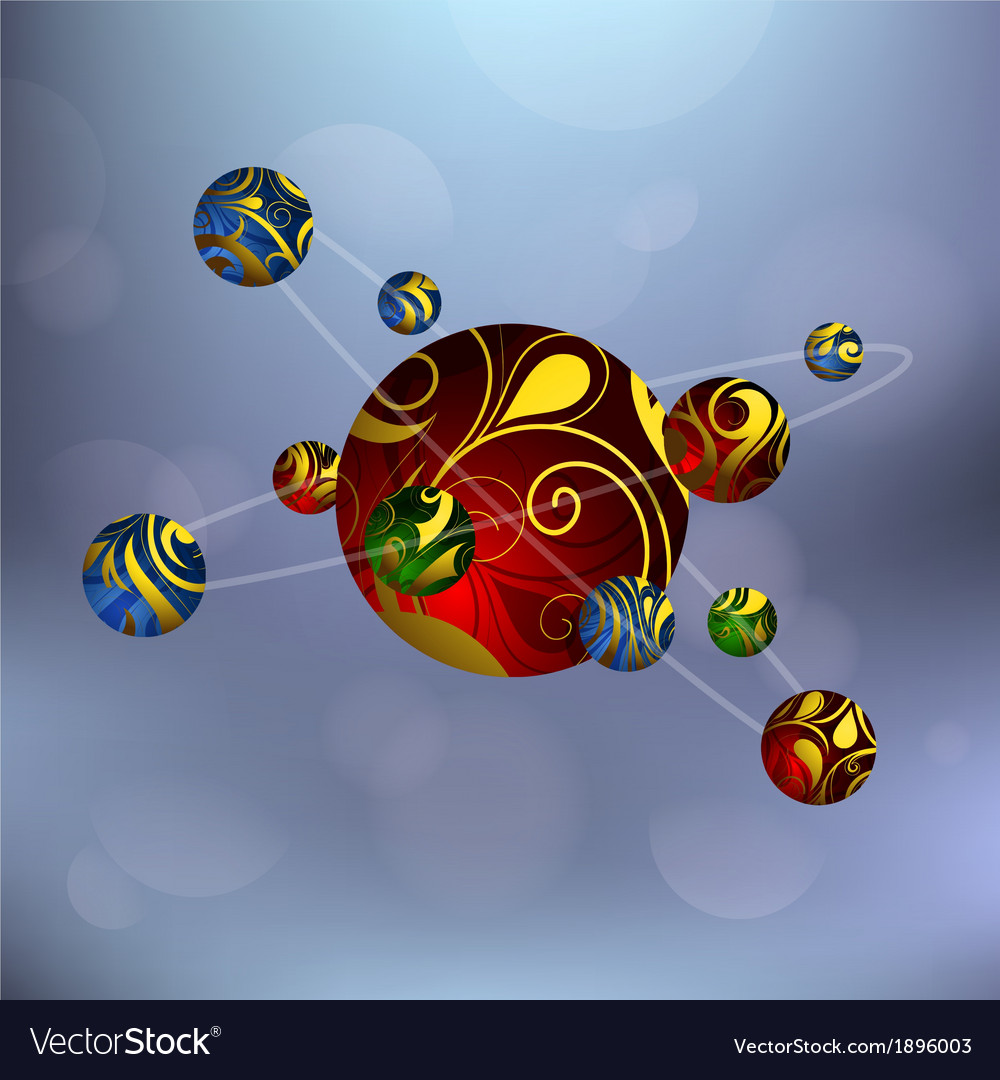 Atom with protons vector | Price: 1 Credit (USD $1)