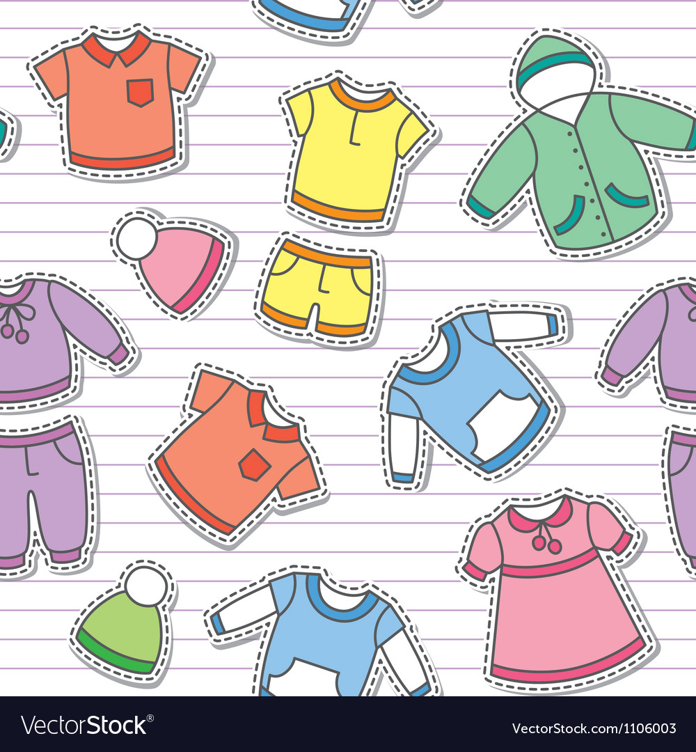 Childrens clothes vector | Price: 1 Credit (USD $1)