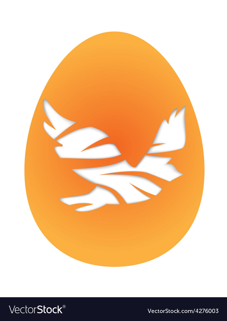 Easter egg with pigeon vector | Price: 1 Credit (USD $1)