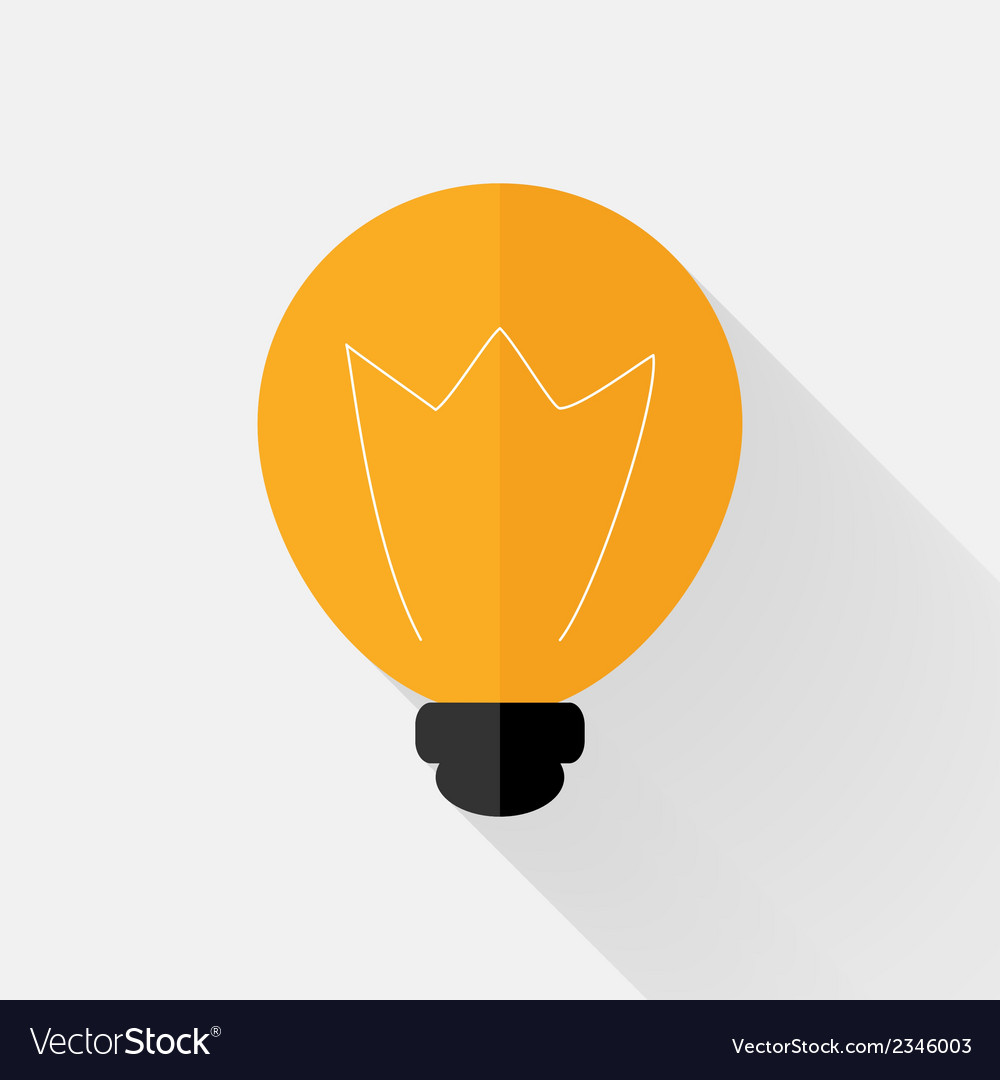 Flat orange lamp icon over grey vector | Price: 1 Credit (USD $1)