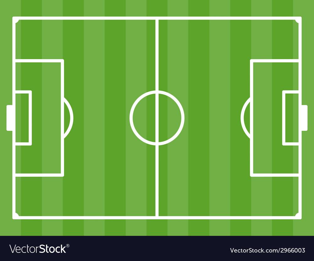 Football field vector | Price: 1 Credit (USD $1)