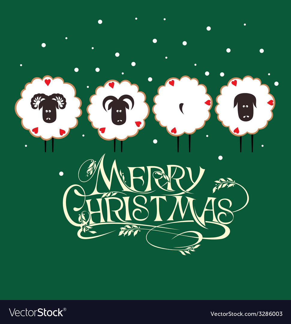 Merry christmas and happy new year background vector | Price: 1 Credit (USD $1)
