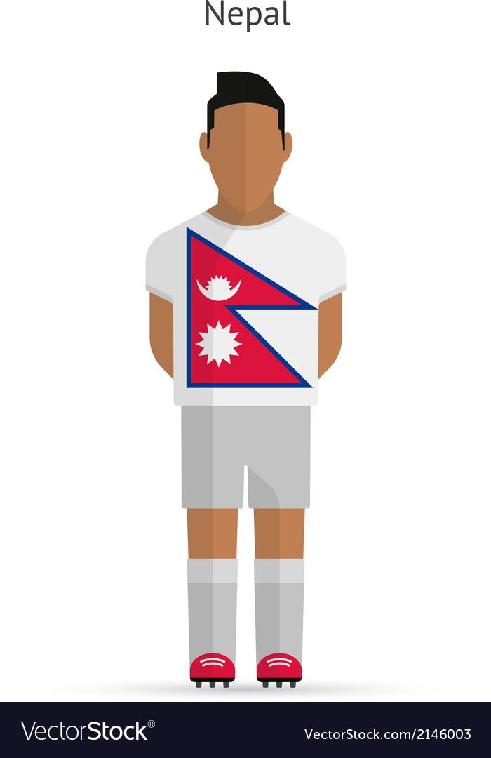 Nepal football player soccer uniform vector | Price: 1 Credit (USD $1)