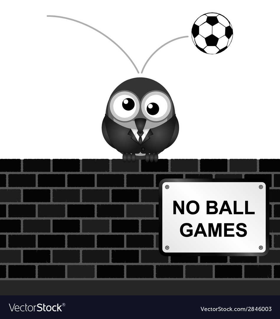 No ball games vector | Price: 1 Credit (USD $1)