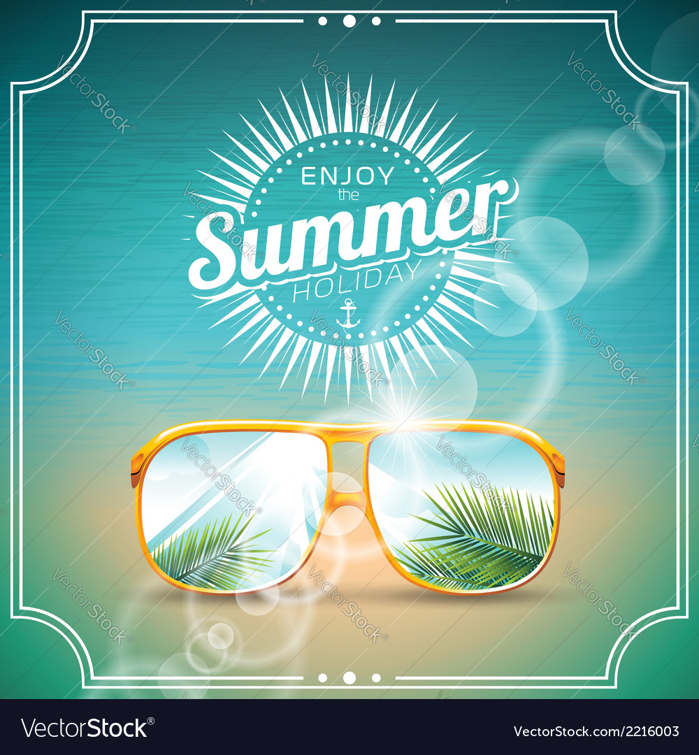 On a summer holiday theme vector | Price: 3 Credit (USD $3)