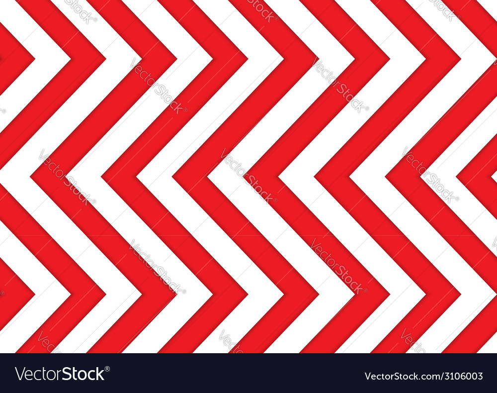 Red and white arrows seamless pattern vector | Price: 1 Credit (USD $1)