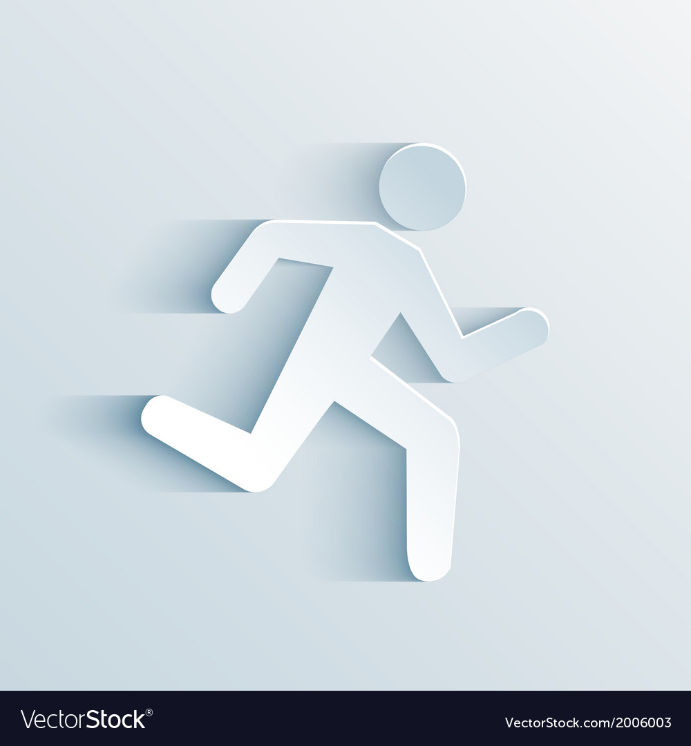 Running sign vector | Price: 1 Credit (USD $1)