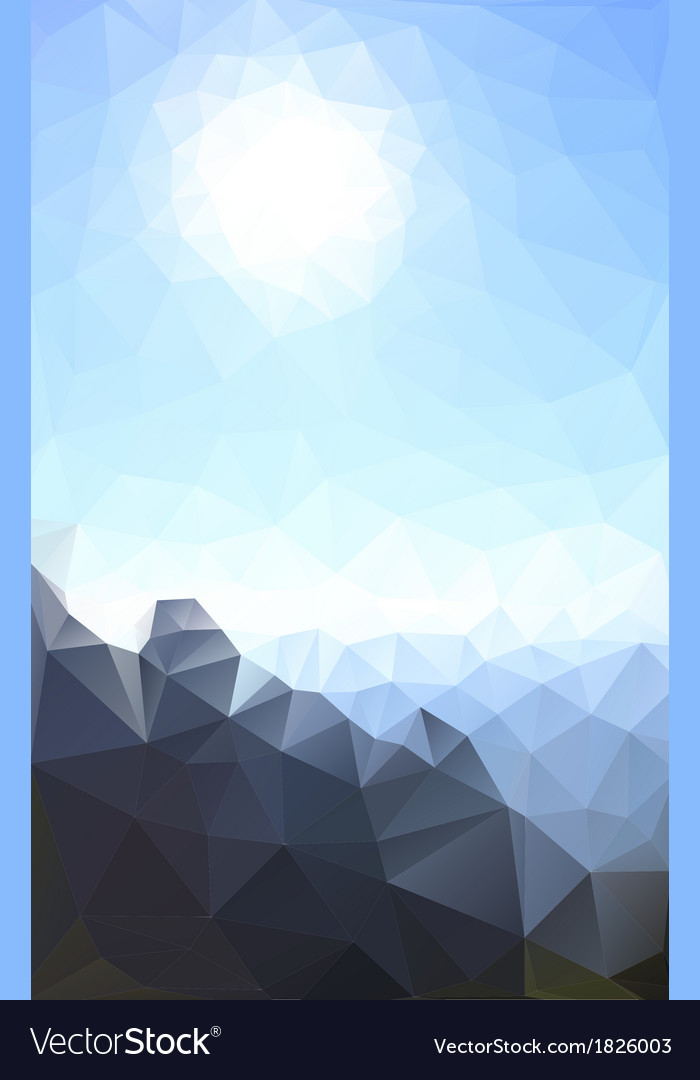 Sun and rock vector | Price: 1 Credit (USD $1)
