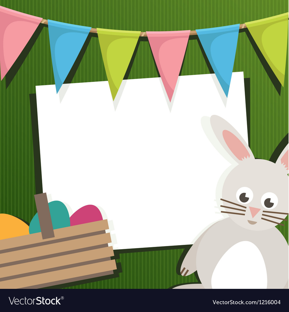 Easter holiday card vector | Price: 1 Credit (USD $1)