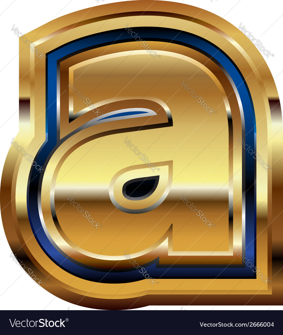Golden font letter a vector | Price: 1 Credit (USD $1)