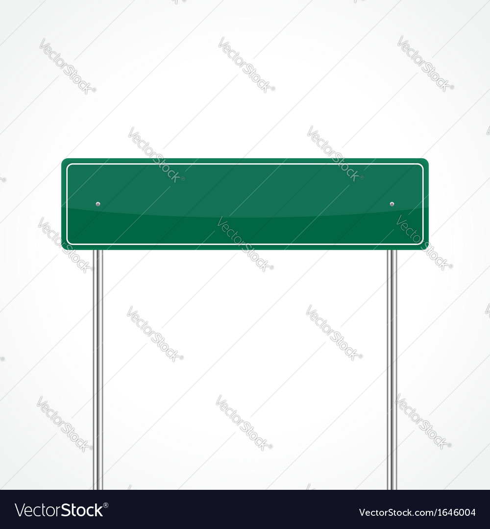 Green traffic sign vector | Price: 1 Credit (USD $1)