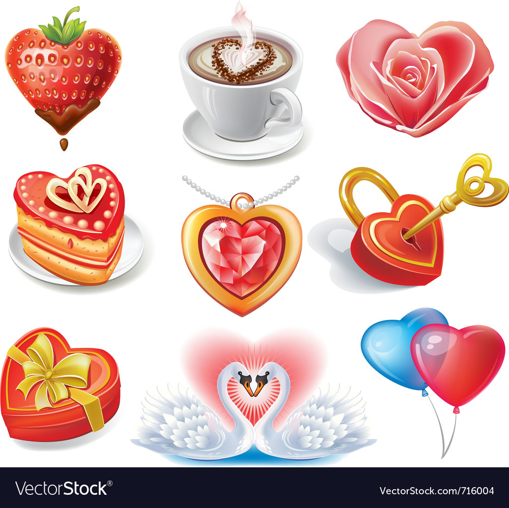 Heart-shaped set vector | Price: 3 Credit (USD $3)