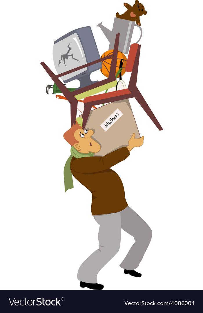 Man carrying his belongings vector   Price: 1 Credit (USD $1)