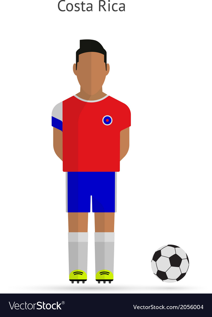 National football player costa rica soccer team vector | Price: 1 Credit (USD $1)