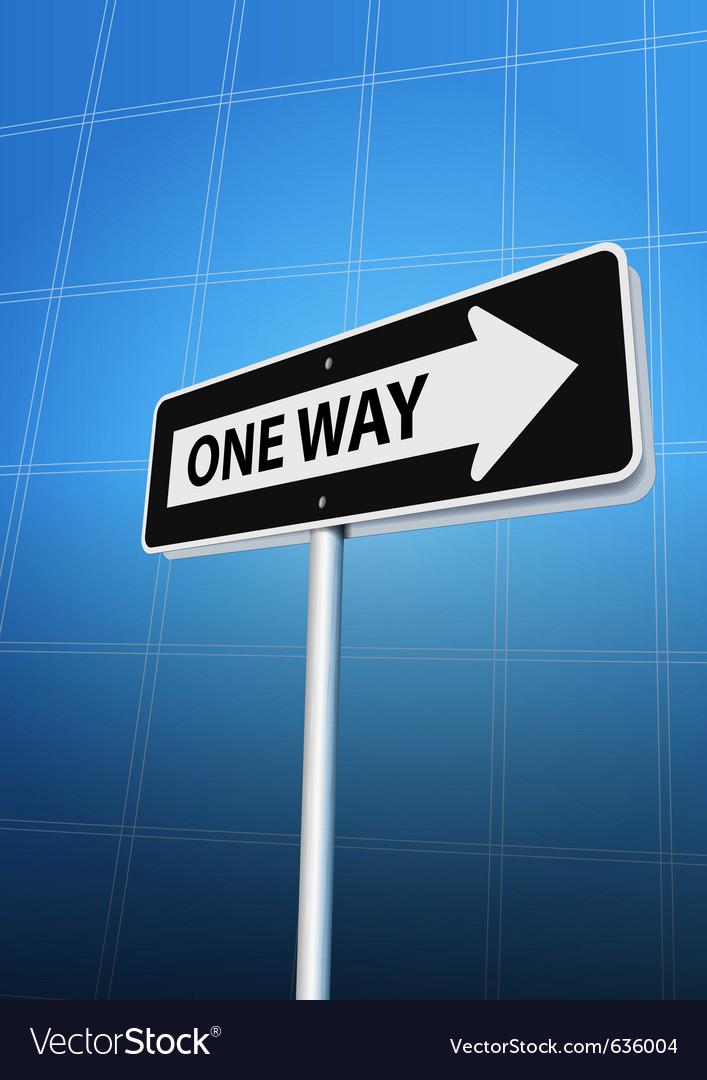 One way arrow vector | Price: 1 Credit (USD $1)