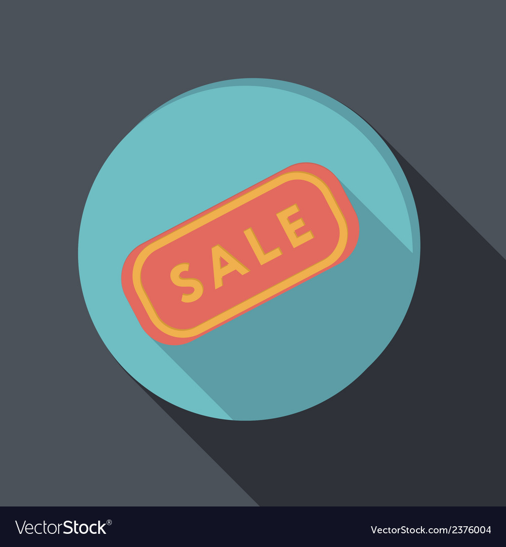 Paper flat icon plate sale vector | Price: 1 Credit (USD $1)