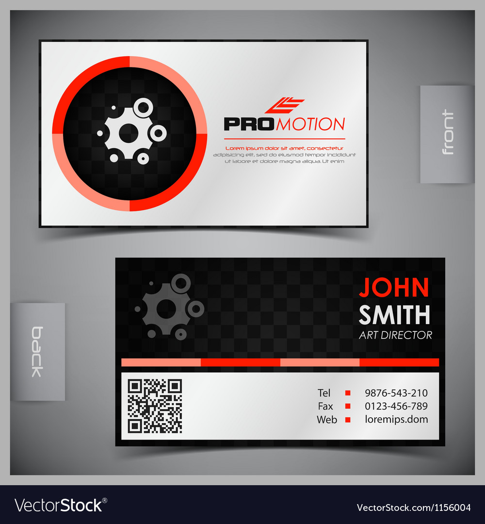 Set of creative business cards vector | Price: 3 Credit (USD $3)