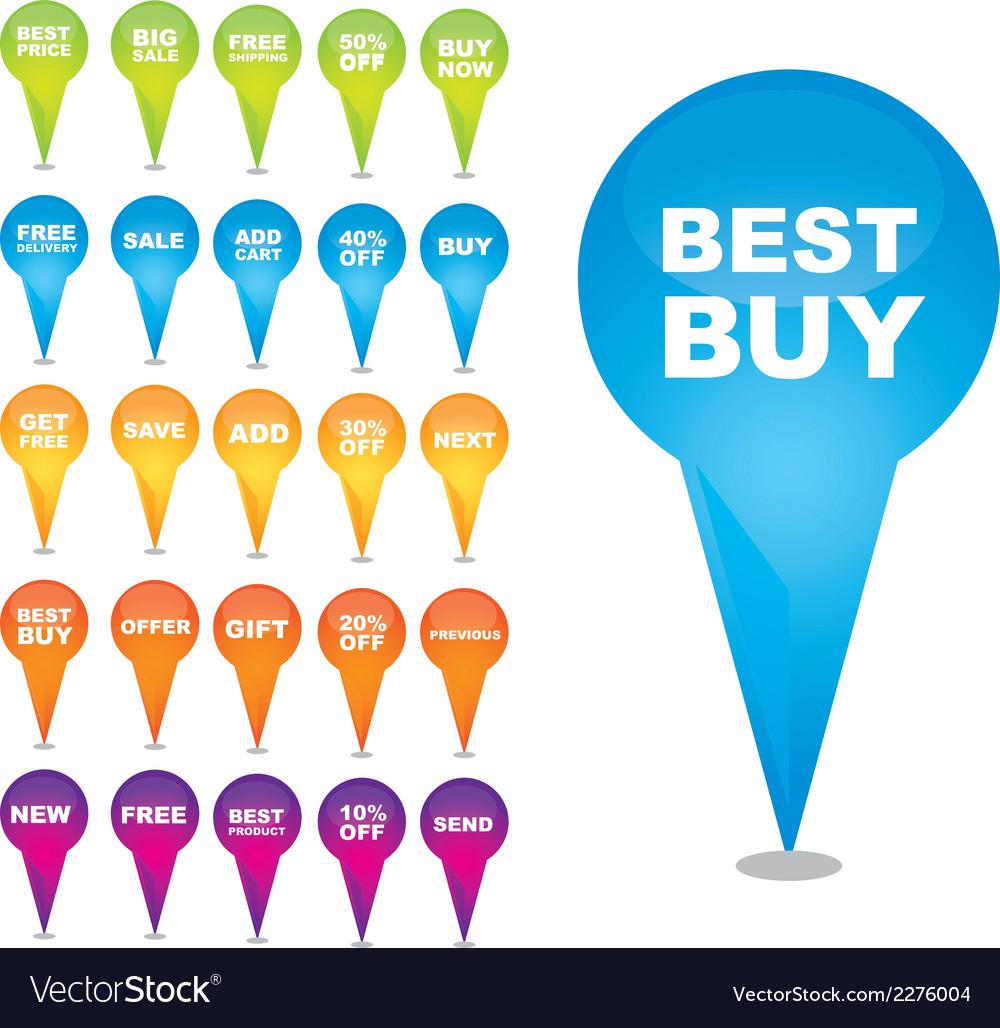 Shopping best buy design vector | Price: 1 Credit (USD $1)