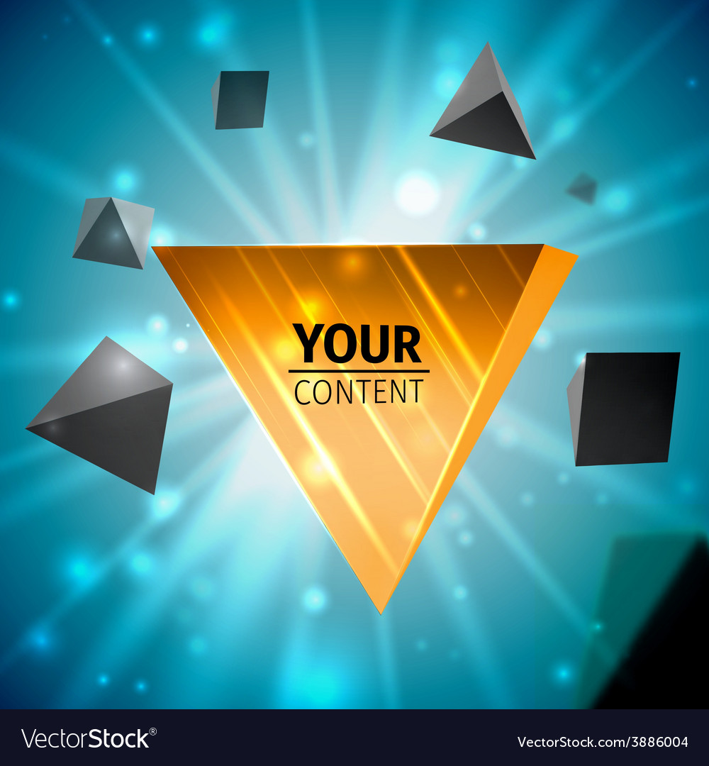 Stylish pyramid cover design vector | Price: 1 Credit (USD $1)