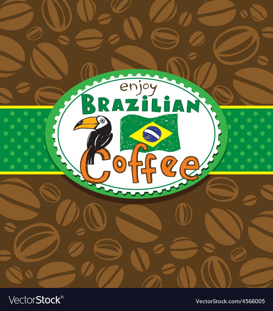 Brazilian coffee background vector | Price: 1 Credit (USD $1)