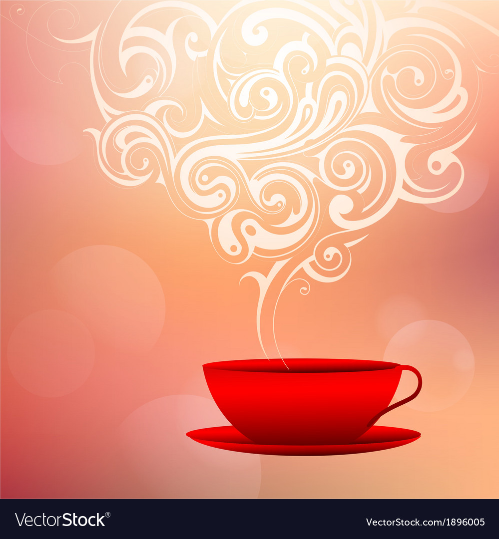 Coffee with tribal smoke vector | Price: 1 Credit (USD $1)