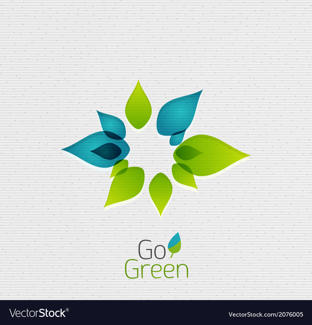 Green leaf nature concept vector | Price: 1 Credit (USD $1)