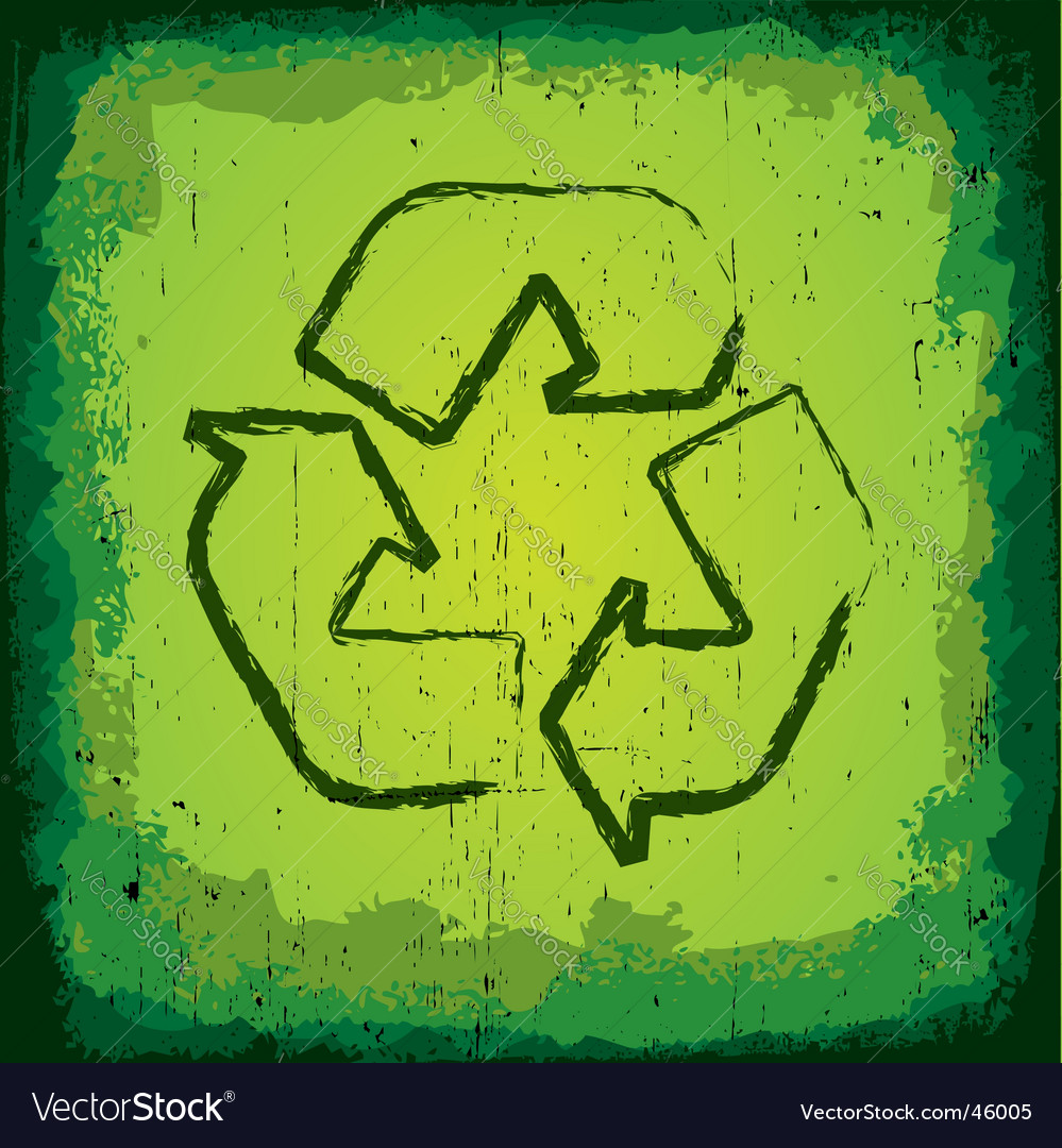 Grunge recycle icon vector | Price:  Credit (USD $)