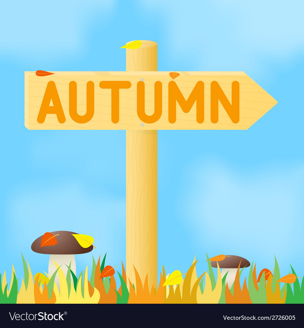 Sign with the inscription autumn vector | Price: 1 Credit (USD $1)