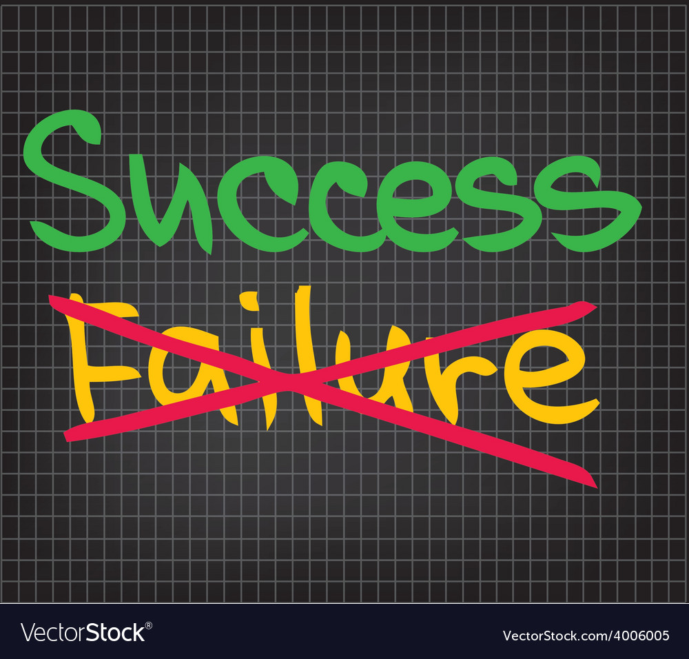Success failure vector | Price: 1 Credit (USD $1)