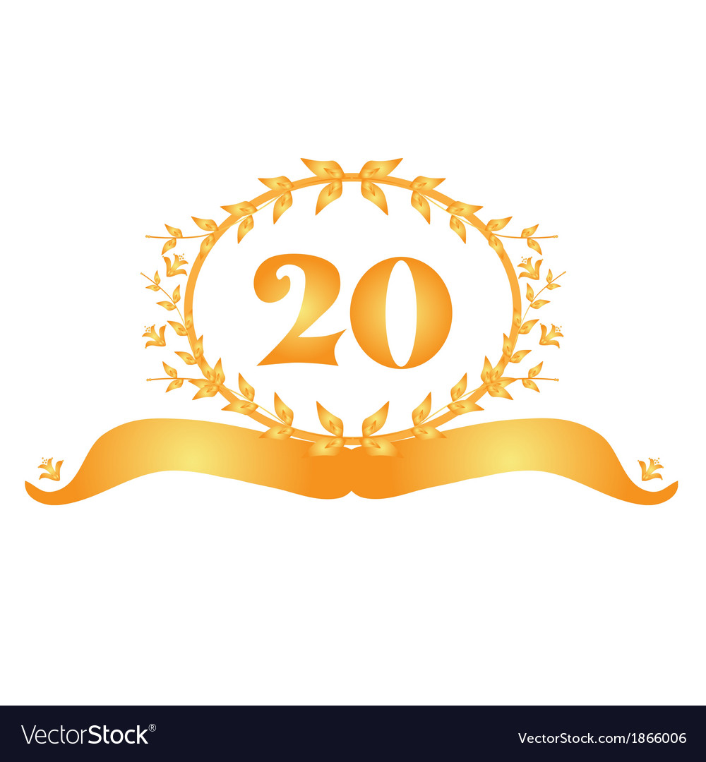 20th anniversary banner vector | Price: 1 Credit (USD $1)