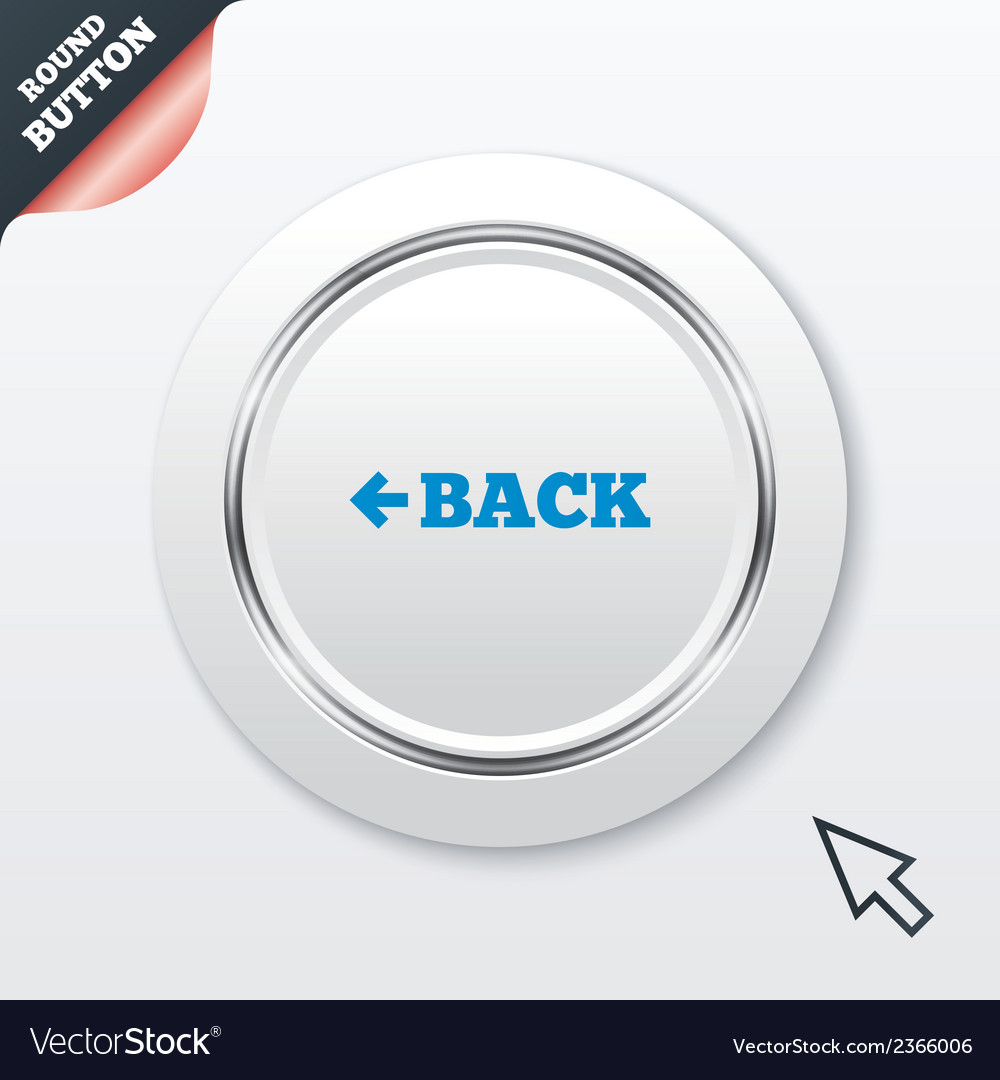 Arrow sign icon back button navigation symbol vector | Price: 1 Credit (USD $1)