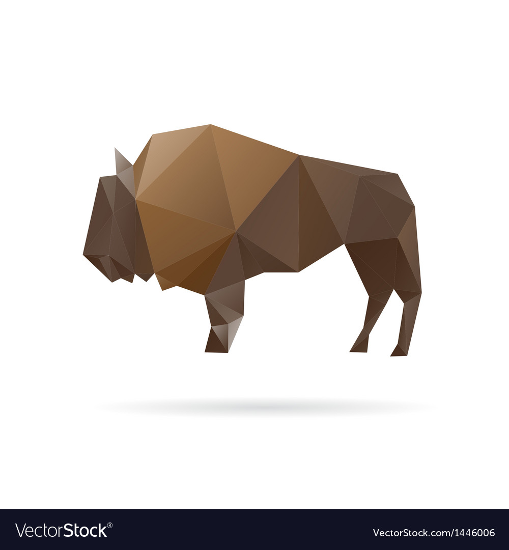 Buffalo abstract isolated on a white backgrounds vector | Price: 1 Credit (USD $1)
