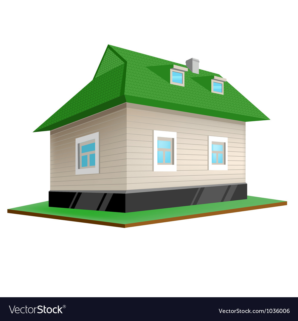 Country house isolated on white background vector | Price: 1 Credit (USD $1)