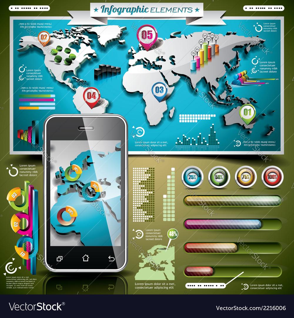 Design set of infographic elements vector | Price: 3 Credit (USD $3)