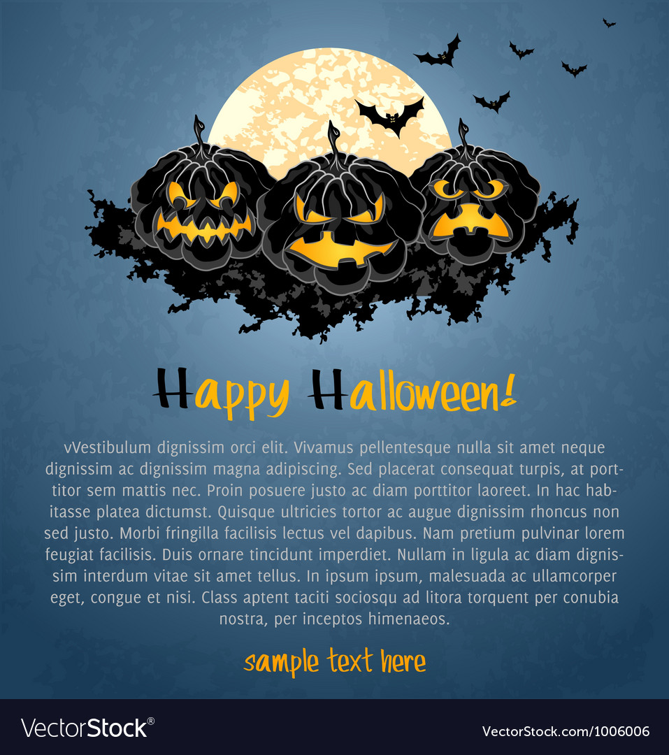 Halloween background with spooky pumpkins vector | Price: 1 Credit (USD $1)