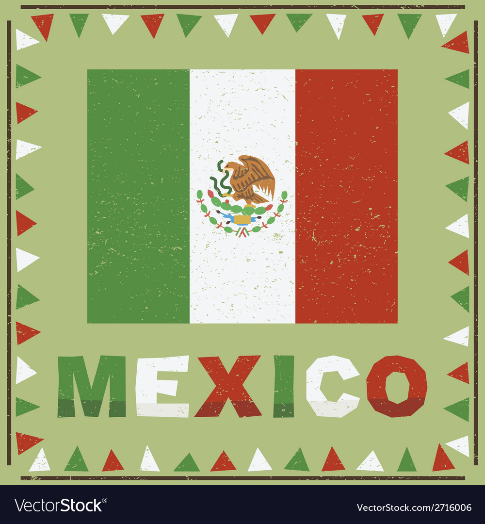 Mexico flag decoration vector | Price: 1 Credit (USD $1)