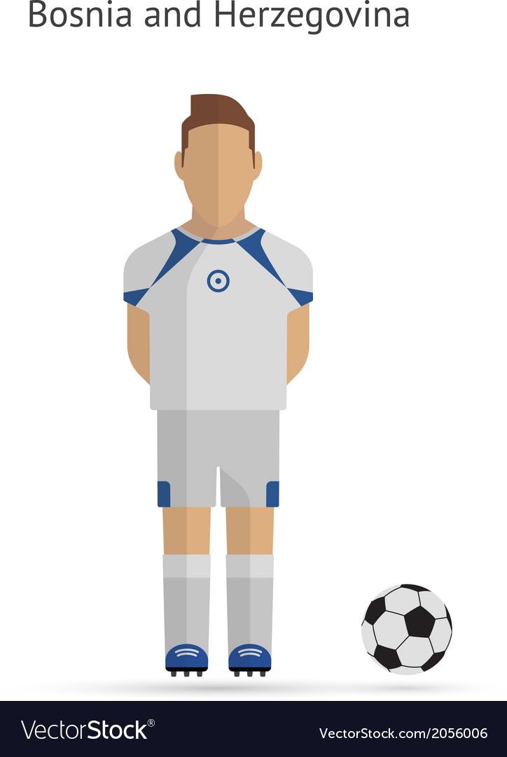 National football player bosnia and herzegovina vector | Price: 1 Credit (USD $1)