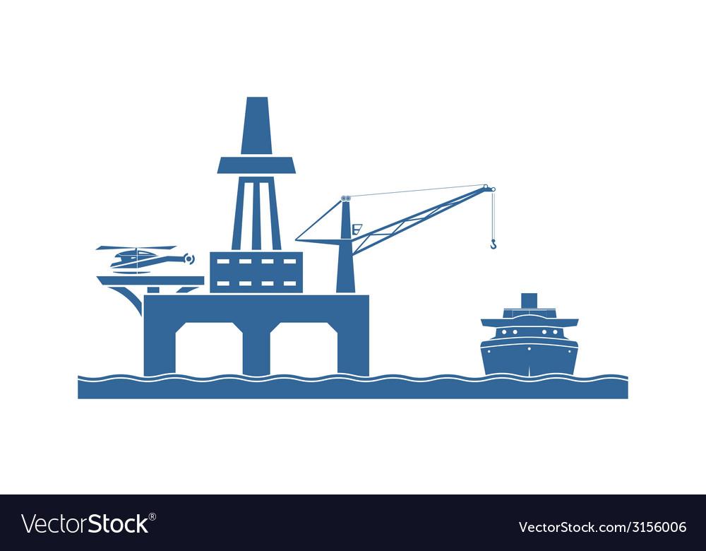 Offshore oil platform vector | Price: 1 Credit (USD $1)