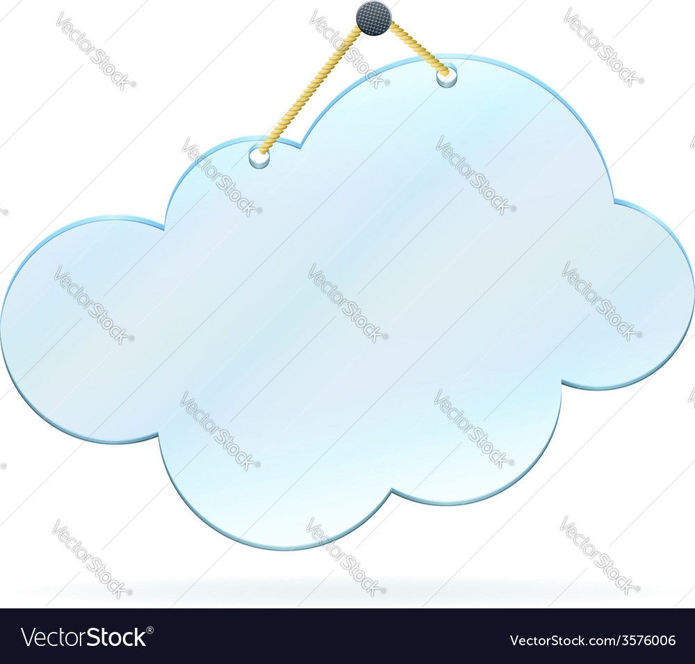Pinned glass cloud frame vector | Price: 1 Credit (USD $1)