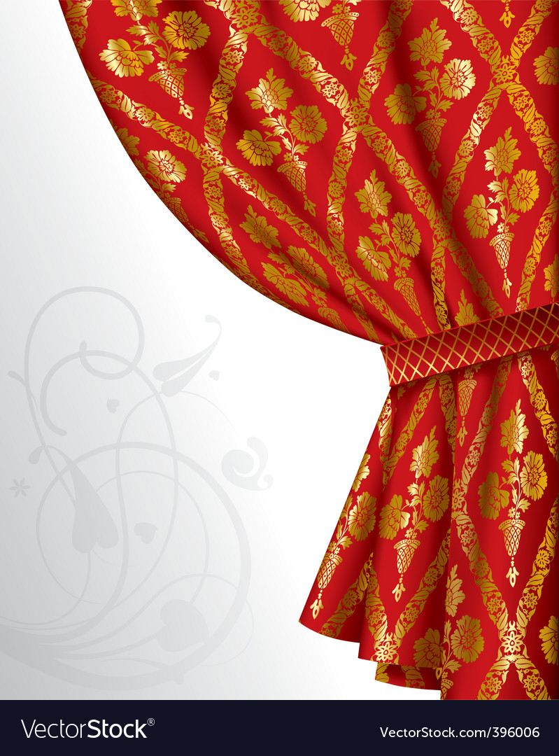 Red drape vector | Price: 1 Credit (USD $1)