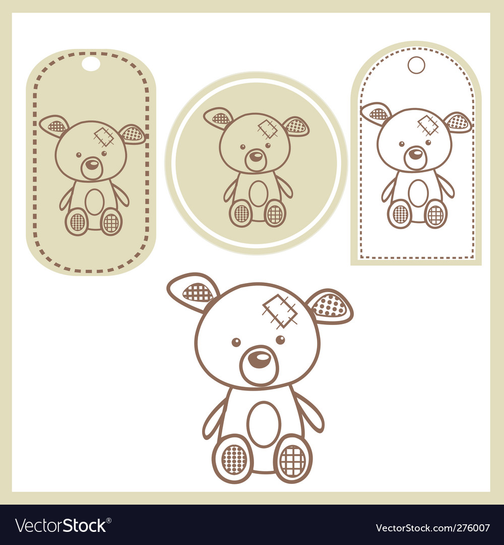 Baby bear vector | Price: 1 Credit (USD $1)