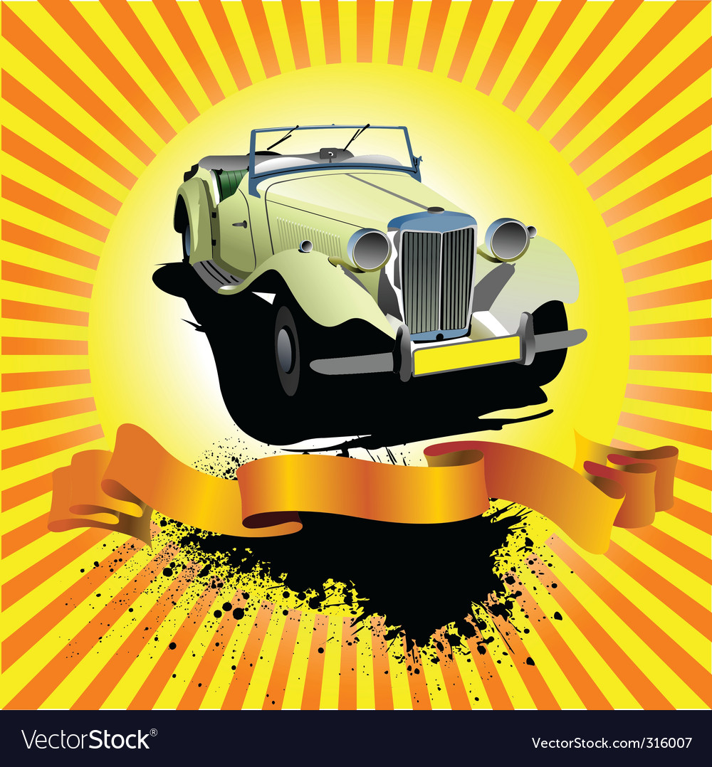 Car club poster vector | Price: 3 Credit (USD $3)