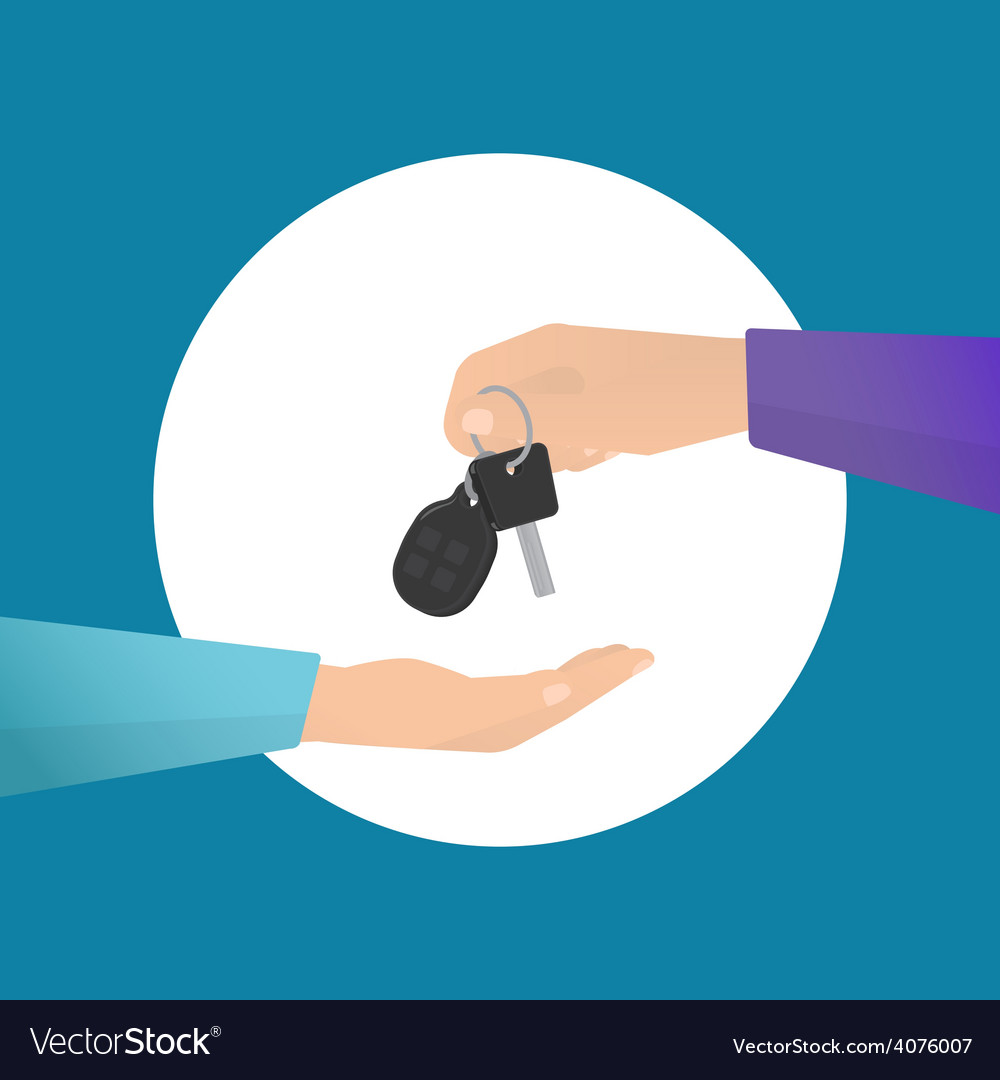Car rental vector | Price: 1 Credit (USD $1)