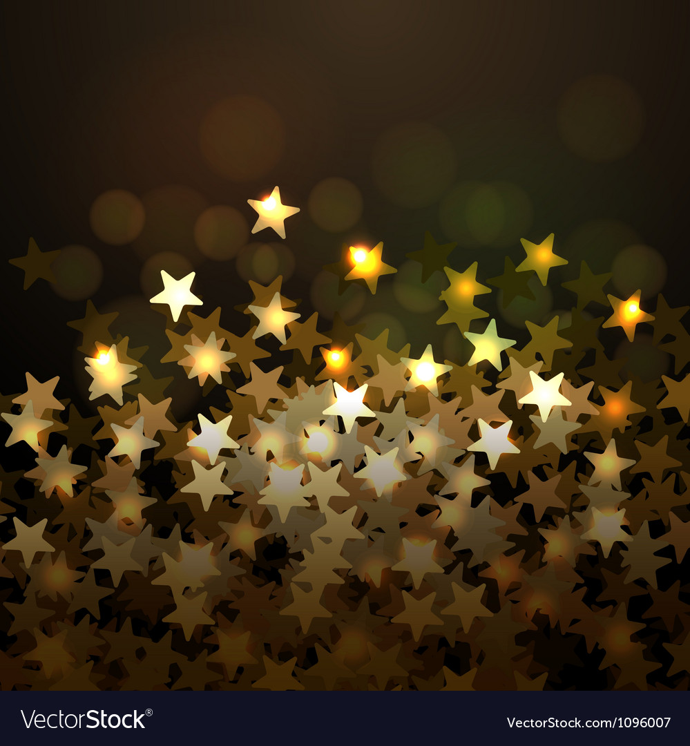 Golden christmas background with stars eps10 vector | Price: 1 Credit (USD $1)