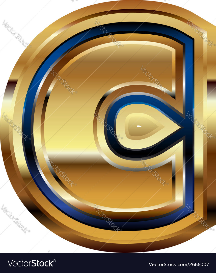 Golden font letter c vector | Price: 1 Credit (USD $1)