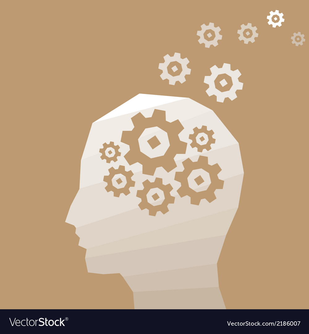 Head thinks vector | Price: 1 Credit (USD $1)