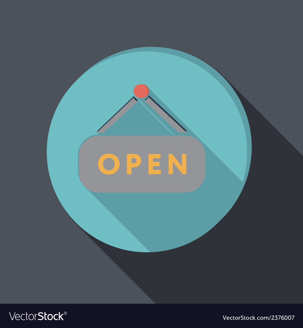 Paper flat icon open label sign vector | Price: 1 Credit (USD $1)
